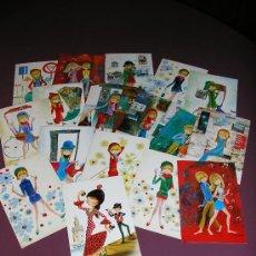 Postales: COLECCION DE 17 POSTALES COLECCION ISABELITA. Lote 7595005