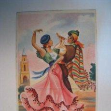 Postales: POSTAL ILUSTRADA SERIE BAILES ANDALUCES Nº 2. Lote 10220093