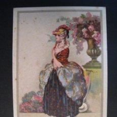 Postcards - POSTAL ITALIANA ILUSTRADA SEÑORITA EN JARDIN - 10256462
