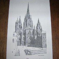 Postales: CATEDRAL DE BARCELONA -DIBUJO DE ANNA LLORENS. Lote 25639670