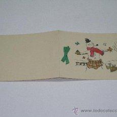 Postales: TARJETA DE NAVIDAD DIBUJADA A MANO. Lote 19228649