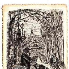 Postales: POSTAL DIBUJADA A MANO FIRMADA POR A. ABELLO DE REUS AÑO 1919. Lote 11252575