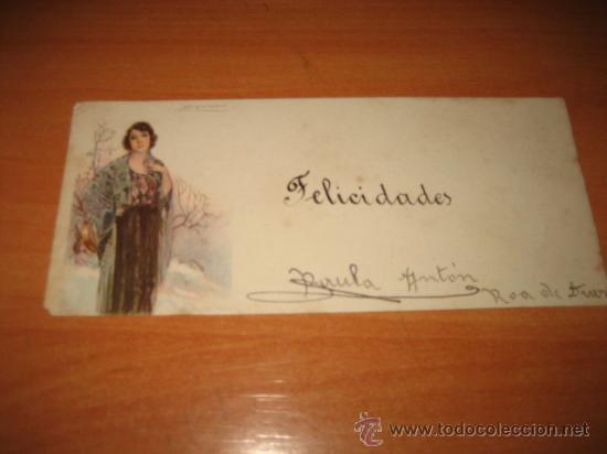 TARJETA FELICIDADES (Postales - Postales Temáticas - Dibujos originales y Grabados)