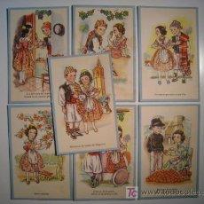 Postales: LOTE 7 POSTALES ILUSTRADAS TIPOS VALENCIA (CMB). Lote 13341535