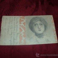 Postales: POSTAL DIBUJADA A MANO FIRMADA J M ,MATASELLOS BARCELONA 7 JUN 03. Lote 13381495