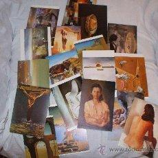 Postales: LOTE DE 18 POSTALES DE CUADRO DE DALI. Lote 20972549