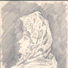 Postales: 1902.-POSTAL FIRMADA Y DIBUJADA POR MANUEL MORENO RODRIGUEZ,PINTOR Y DIBUJANTE PPIOS S.XX. Lote 15572362