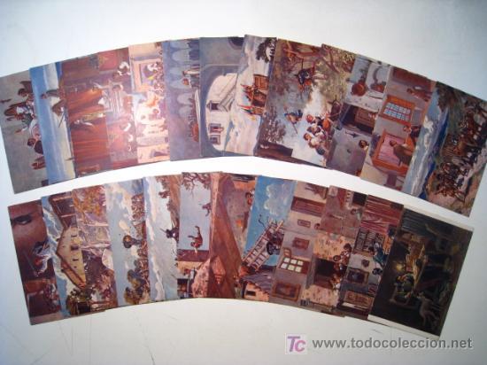 DON QUIJOTE DE LA MANCHA - ED. AMBOS MUNDOS - COLECCION POSTALES COMPLETA!! (Postales - Postales Temáticas - Dibujos originales y Grabados)