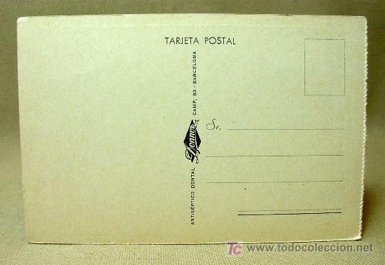 Postales: POSTAL, LA ODONTOLOGIA EN EL ARTE, Nº 5, EL SACAMUELAS, ANTISEPTICO DENTAL DONNER MEDIDAS: 14 X 9 C - Foto 2 - 19139822