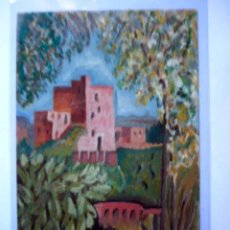 Postales: POSTAL DIBUJO ORIGINAL DE LA ALHAMBRA ( ? ). GRANADA. FIRMADA.. Lote 19955737