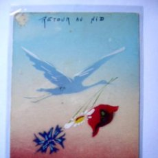 Postales: POSTAL ACUARELA ORIGINAL. FIRMADA.. Lote 19955811