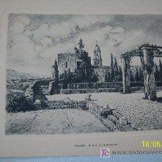 Postales: DOBLE Y USADA-CON GRABADO ( IMPRESO) MIRADOR DE LA ALCAZABA, MÁLAGA-1958.- 12 X 17 CM CERRADA. Lote 20044165