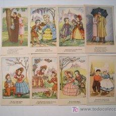 Postales: LOTE 8 POSTALES ROMANTICAS ILUSTRADAS - CMB. Lote 21023562