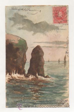 ACUARELA ORIGINAL. 1908. FIRMA: J. PLANAS. POSTAL CIRCULADA EN 1908. (Postales - Postales Temáticas - Dibujos originales y Grabados)