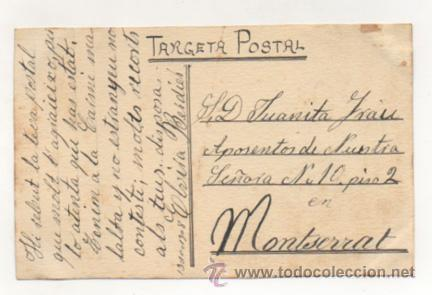 Postales: ACUARELA ORIGINAL. 1908. FIRMA: J. PLANAS. POSTAL CIRCULADA EN 1908. - Foto 2 - 22306138