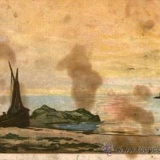 Postales: POSTAL ANTIGUA - GRABADO DE UNA MARINA BARCOS A VELA - SIN CIRCULAR - PARIS - GRAVURES - 1783. Lote 43285601