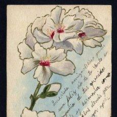 Postales: FIRMADA *M. MORATÓ* DIBUJO ORIGINAL SOBRE TARJETA POSTAL. CIRCULADA BARCELONA 1903.. Lote 28968475