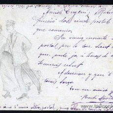 Postales: FIRMADA CON ANAGRAMA. CIRCULADA BARCELONA - VIGO 16-11-1904.. Lote 198599