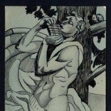 Postales: FIRMADA *PERE LLUIS BONET* TINTA ORIGINAL SOBRE TARJETA POSTAL. FECHADA 1933.. Lote 2187423