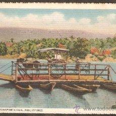 Postales: TRANSPORTE MARITIMO. FILIPINAS. VER DORSO CON SELLO. MUY ANTIGUA. Lote 27571140