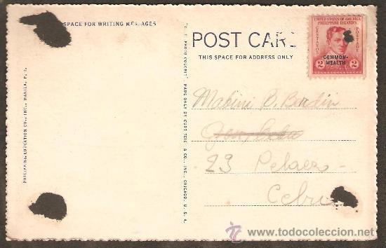 Postales: TRANSPORTE MARITIMO. FILIPINAS. VER DORSO CON SELLO. MUY ANTIGUA - Foto 2 - 27571140