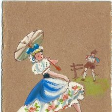 Postales: 8753B - PRECIOSA POSTAL PINTADA A MANO - CERRADA MIDE 12,5 X 8,5CM. Lote 27678448