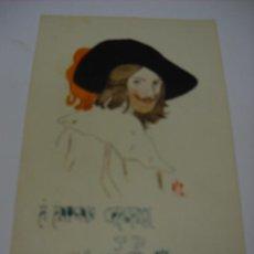 Postales: POSTAL ORIGINAL PINTADA A LA ACUARELA POR M. LLORENTE EN 1915. SIN CIRCULAR. Lote 27723744