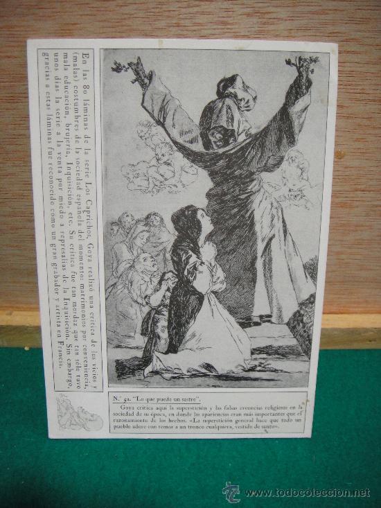 POSTAL DE GRABADO DE GOYA PROMOCIONES FUENDETODOS SIN CIRCULAR (Postales - Postales Temáticas - Dibujos originales y Grabados)