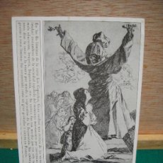 Postales: POSTAL DE GRABADO DE GOYA PROMOCIONES FUENDETODOS SIN CIRCULAR. Lote 28208304