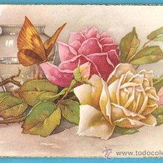 Postales: POSTAL CYZ SERIE 534/A, FLORES Y MARIPOSAS, LOTE DE 2 POSTALES DE LOS AÑOS 50. Lote 28280278