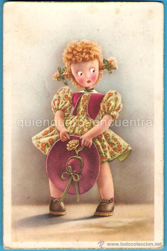 POSTAL CYZ SERIE 513 NUEVA, AÑOS 50 (Postales - Postales Temáticas - Dibujos originales y Grabados)