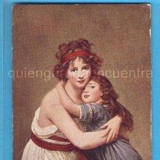 Postales: POSTAL DE LE BRUN, LA ARTISTA Y SU HIJA, EL LOUVRE. EYRE Y SPOTTISWOODE WOODBURY SERIES Nº 4243. Lote 28345305