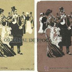 Postales: (PS-23780)POSTAL Y DIBUJO ORIGINAL DE ILUSTRADOR V.BUIL SERIE DE BARON A COLILLERO. Lote 28426281