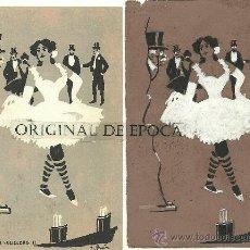 Postales: (PS-23779)POSTAL Y DIBUJO ORIGINAL DE ILUSTRADOR V.BUIL SERIE DE BARON A COLILLERO. Lote 28426290