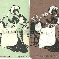 Postales: (PS-23776)POSTAL Y DIBUJO ORIGINAL DE ILUSTRADOR V.BUIL SERIE DE BARON A COLILLERO. Lote 28426330