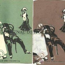 Postales: (PS-23775)POSTAL Y DIBUJO ORIGINAL DE ILUSTRADOR V.BUIL SERIE DE BARON A COLILLERO. Lote 28426343