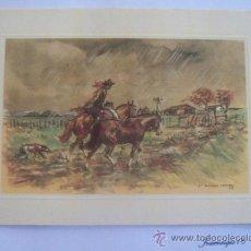 Postales: CASTELL CAPURRO 53, GAUCHO URUGUAY, CABALLO LLUVIA.. Lote 28918070