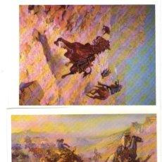 Postales: LOTE DE 3 POSTALES DE AUTOR DEDICADAS AL LEJANO OESTE AMERICANO (FAR WEST) - AUTOR CHARLES M.RUSSELL. Lote 29961871