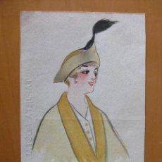 Postales: BONITA POSTAL DE MUJER PINTADA A MANO. FIRMADA POR GINER.1915. Lote 30284266