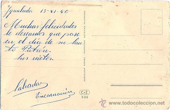 Postales: 1185 -EDICIONES CYZ SERIE 532.B - ILUSTRADA POR VIVES DATA 1950 - Foto 2 - 30764456