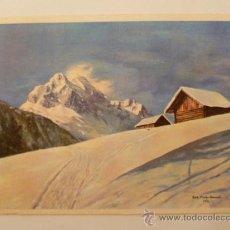 Postales: ANTIGUA POSTAL; ALBERGUE - Nº 725 / ORIGINAL DIBUJO CON EL PIE POR MACHO. NO CIRCULADA. Lote 31195553