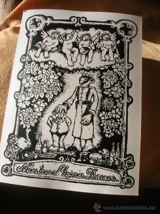 FELICITACIÓN - DIBUJANTE DEL RROLLO ENMASCARADO AÑO1972 (Postales - Postales Temáticas - Dibujos originales y Grabados)