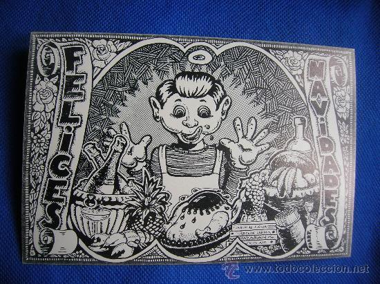 FELIZ NAVIDAD -FARRY 1972 -DIBUJANTE DEL RROLLO ENMASCARADO (Postales - Postales Temáticas - Dibujos originales y Grabados)
