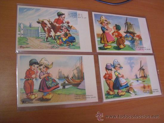 Postales: serie 2ª completa,10 postales umoristicas del dibujante fariñas. años 50 - Foto 2 - 31295531