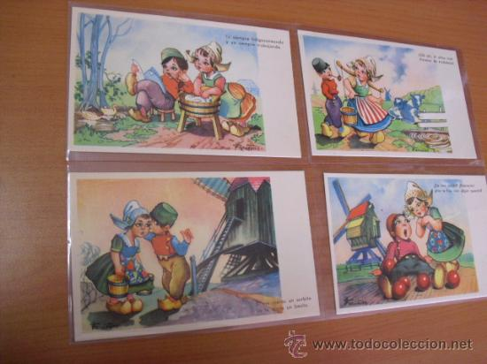 Postales: serie 2ª completa,10 postales umoristicas del dibujante fariñas. años 50 - Foto 3 - 31295531