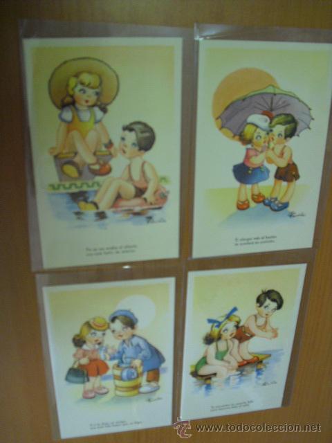 Postales: serie 5ª completa,10 postales umoristicas del dibujante fariñas años 50 - Foto 3 - 31295651
