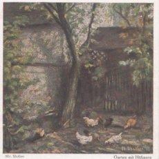 Postcards - Postal antigua , jardin con pollos, 15 - 32455402