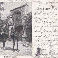 Postales: POSTAL ANTIGUA, ALEMANIA 1899 BEBIDA , CABALLERO, DAMAS , MUJER , MODA, 15. Lote 32455496