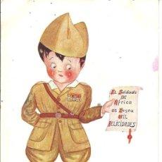 Postales: PS1718 POSTAL DE FELICITACIÓN DE LA SERIE 'CARICATURA'. ILUSTRADA POR MERTOGS. ESCRITA AL DORSO. Lote 33250080