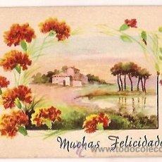 Postales: ANTIGUA POSTAL C M B SERIE Nº 565 MUCHAS FELICIDADES SIN CIRCULAR PAISAJE. Lote 33621135